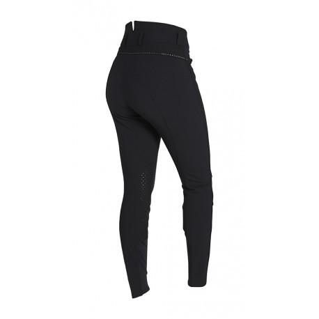 Pantalon Femme Montar - Taille Haute - Monogramme - Fond de peau - Noir T44